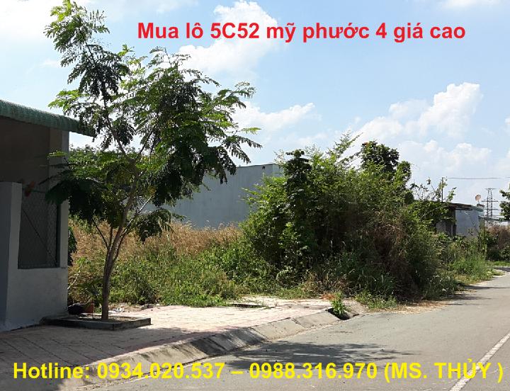 Mua lô 5C32 Mỹ Phước 4 đối điện ĐH TDM giá cao