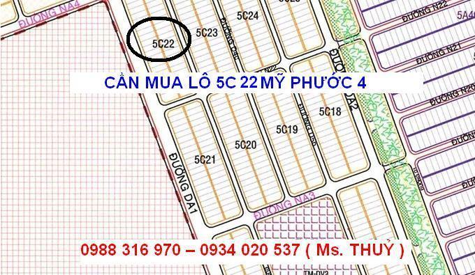 Cần mua lô 5C22 Mỹ Phước 4 mua giá cao chính chủ