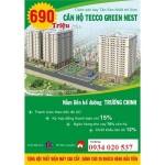 CĂN HỘ TECCO GREEN NEST QUẬN 12 GIÁ HẤP DẪN
