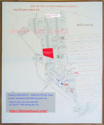 Bản đồ KCN mỹ phước 2 tỉ lệ 1/500 - thu mua đất nền mỹ phước 2