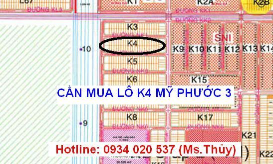 Cần mua lô K4 Mỹ Phước 3 giấy tờ đầy đủ