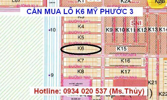 Cần mua lô K6 Mỹ Phước 3 giá cao đất thổ cư