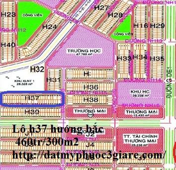 Bán lô H37 Mỹ Phước 3, Bán đất nền lô H37 Mỹ Phước 3