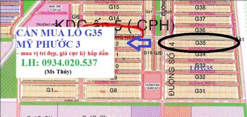 cần mua lô G35 Mỹ Phước 3