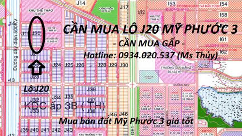 Cần mua lô J20 Mỹ Phước 3