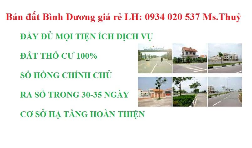 Bán đất Bình Dương giá rẻ LH: 0934 020 537 Ms.Thuỷ
