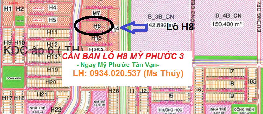 Lô H8 Mỹ Phước 3