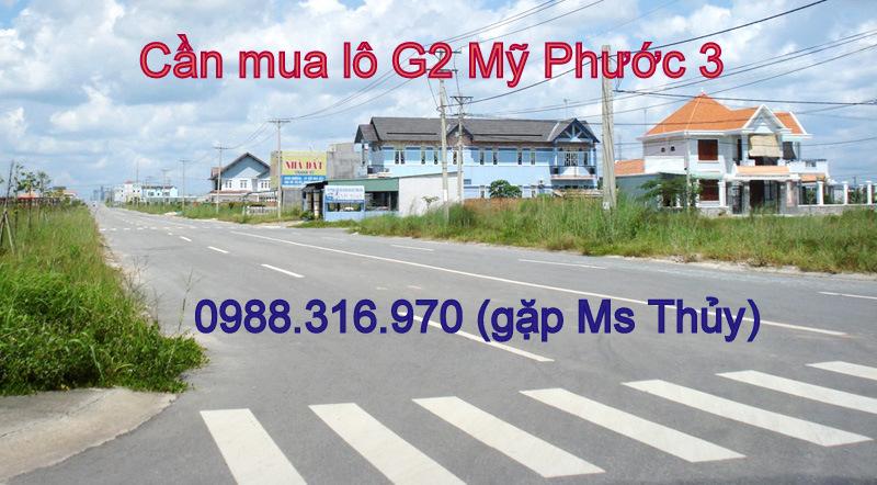 Cần mua lô G2 Mỹ Phước 3 mua giá cao, cọc nhanh