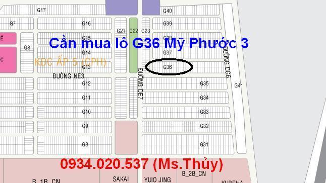 Mua lô G36 Mỹ Phước 3 giá