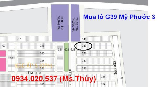 lô G39 Mỹ Phước 3