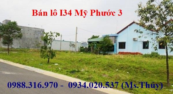 Chính chủ kẹt tiền bán lô I34 Mỹ Phước 3
