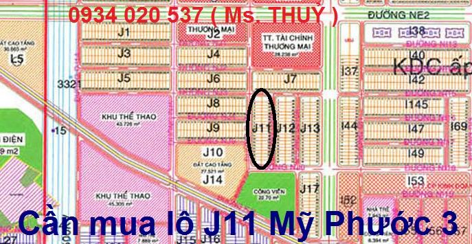 Cần mua lô J11 Mỹ Phước 3 mua nhanh lô vị trí đẹp