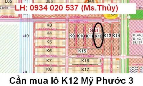 Cần mua lô K12 Mỹ Phước 3 giấy tờ đầy đủ, pháp lý rõ ràng