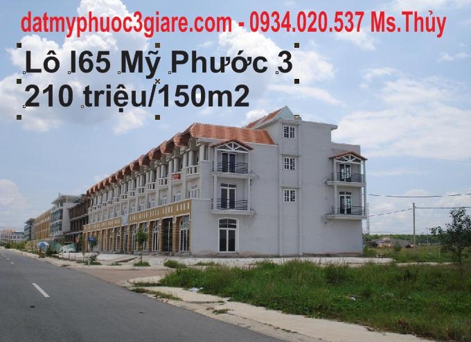 Lô I65 Mỹ Phước 3 hướng Đông, mặt tiền đường 25m thông thẳng chỉ 325 triệu