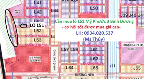 Cần mua lô L51 Mỹ Phước 3