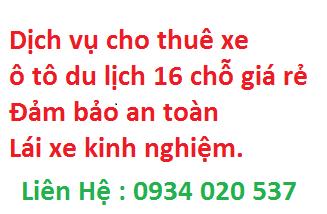 Dịch vụ cho thuê xe ô tô du lịch 16 chỗ giá rẻ cty Phúc Thiên