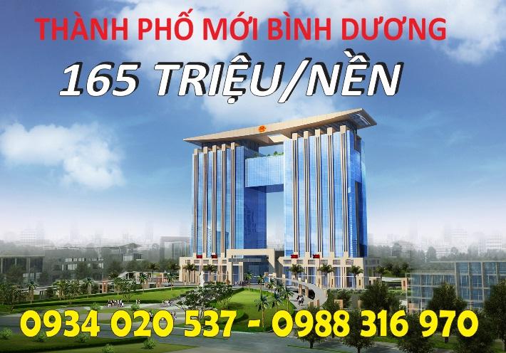 tp moi binh duong  ĐẤT NỀN THÀNH PHỐ MỚI BÌNH DƯƠNG 165 TRIỆU/NỀN