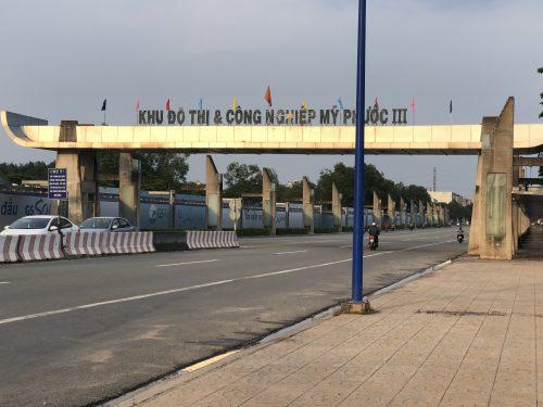 Cổng khu đô thị mỹ phước 3